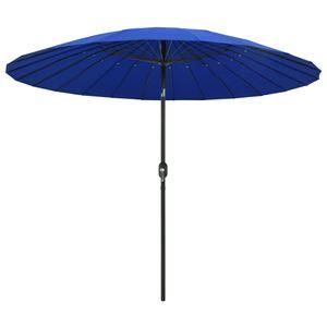vidaXL Sonnenschirm mit Aluminium-Mast 270 cm Azurblau