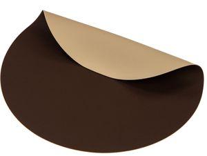 Jay Hill Tischsets Rund Lederoptik Braun Sand Ø38 cm - 6 Stück