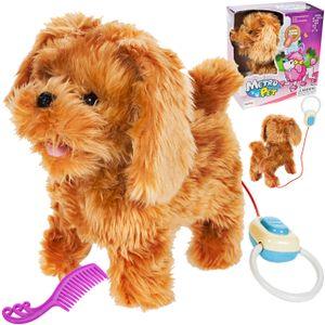 MalPlay Elektronisches Plüschtier   Golden Retriever Hund Interaktives Spielzeug   mit Gehen, Bellen, Schwanzwedeln Funktion   für Kinder ab 3 Jahren