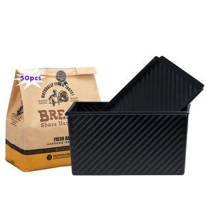 1 Stuck Für 450g Teig Toast Brot Backform Gebäck Kuchen Brotbackform Mold Backform mit Deckel und 50x Brottasche