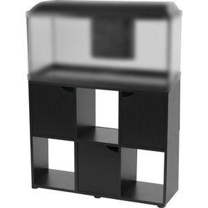 ZOLUX ISEO Aquariumeinheit - L 100 x B 30 x H 72 cm - Schwarz