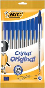 BIC Kugelschreiber Cristal Original blau im 10er Beutel