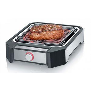 Severin PG 8545 Steakboard schwarz / gebürsteter Edelstahl, Farbe:Schwarz