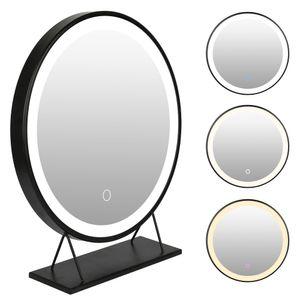 Schminkspiegel Kosmetikspiegel mit LED Beleuchtung Make Up Spiegel  Schminktisch Beleuchtung 50*50cm - Dimmbar