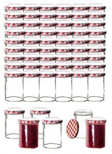60x Einmachgläser 435 ml für Pasteurisierung TO 82 -  Germany - Marmeladengläser inkl. Deckel