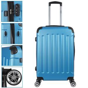 AREBOS Eco Reisekoffer Hartschalenkoffer Trolley Blau Größe L - direkt vom Hersteller
