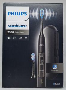 Philips Sonicare ExpertClean 7300 Elektrische Zahnbürste HX9601/02, mit Schalltechnologie, Andruckkontrolle, Reiseetui, schwarz…