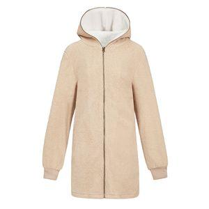 Damen Kapuzenwollmantel Winter Warmer Mantel Oberbekleidung Jacke S 5XL Größe 4XL