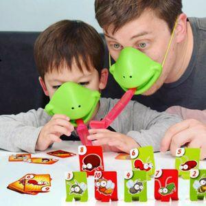 Chamäleon Zunge Spielzeug Bug Catch Kinder Familien Spiel Frosch Mund Spielzeug