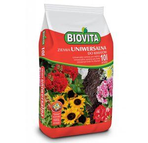 BIOVITA Universalboden 10L Mehrkomponentensubstrat Pflanzenerde Gebrauchsfertig Erde Natürlichen Ursprungs