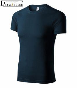 T-Shirt Marineblau L unisex Furtwängler P73 Baumwolle 150 g/m² abreißbares Etikett - tear off