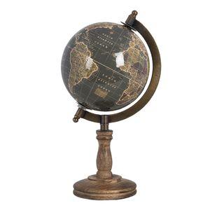 Clayre & Eef Globus Deko 64655 13*13*27 cm - Mehrfarbig Holz / Eisen Weltkugel Globen