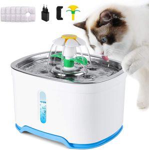 2.5L Automatischer Trinkbrunnen Trinknapf Haustier Wasserspender mit 5 Filter,Platz