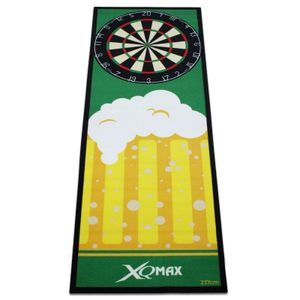 Dartteppich Bier gelb/grün 80 x 237 cm Tunier Dartmatte Dart Matte mit offiziellem Spielabstand