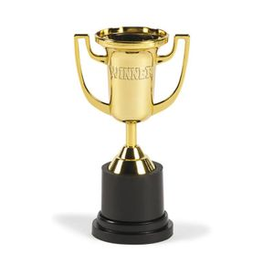 Mini Pokal Trophäe Winner goldfarben 1 Stück
