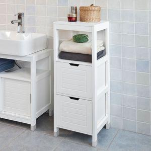 SoBuy® Badkommode, Badschrank, Kommode, Badezimmer, FRG127-W