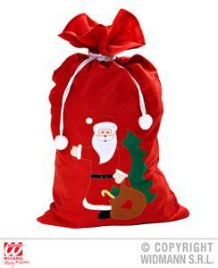 Verzierter Weihnachtsmann Sack 60 x 100 cm - Knecht Rubrecht