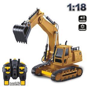 Voll funktionsf?hige Fernbedienung Bagger Konstruktion Traktor Spielzeug Geschenk