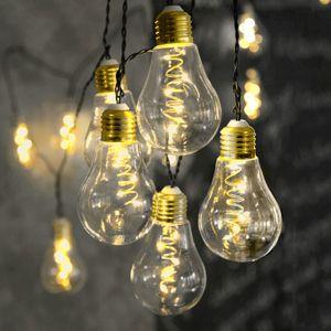 LED Party Lichterkette 'Glow' - 10x 5 warmweiße LED Glühbirnen - L: 3,6m - Indoor - transparent