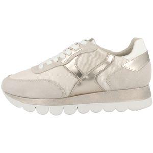 Tamaris Damen Sneaker Halbschuhe Schnürschuhe 1-23746-26, Größe:38 EU, Farbe:Beige