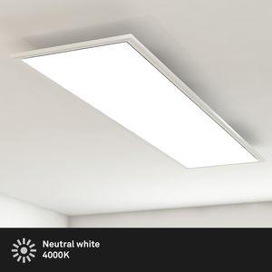 Deckenleuchte-Panel LED Wohnzimmer-Lampe 38W Rechteckig Weiß Briloner Leuchten