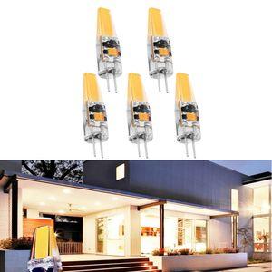 5 Stücke Dimmbare COB LED Licht G4 12 V Birne Silikon Kristall Lampe 3 Watt 3000 Karat 38 MM