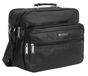 Bag Street Herrentasche Arbeitstasche Flugbegleiter Tasche T0111 Schwarz