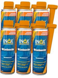 INOX® Oktanbooster Additiv, 6 x 250ml - Kraftstoffadditiv erhöht Oktanzahl, für alle Benzinmotoren geeignet