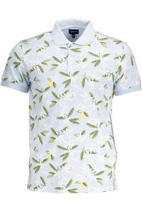 Gant Herren Poloshirt Polohemd T-Shirt kurzarm, mit Knöpfen, Größe:XL, Farbe:azurblau (420)