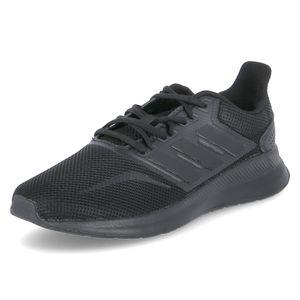 adidas Schuhe atmungsaktive Herren Laufschuhe Runfalcon Schwarz, Größe:42 2/3