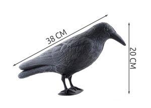 Taubenschreck Vogelschreck 40cm Rabe Krähe Kunststoff schwarz 783