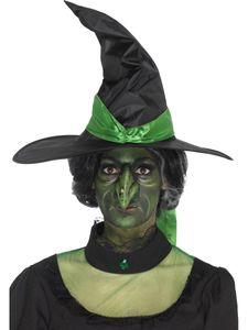 Hexennase Nase Hexe grün mit Klebemittel Halloween Kostüm Zubehör