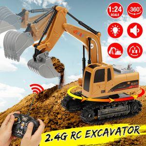 1:24 RC Bagger 2.4G Fernbedienung 360 ° Rotation Auto LKW Spielzeug mit Lichtern