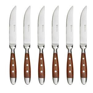 GRÄWE Steakmesser 6 Stück, Serie Nürnberg, BRAUN