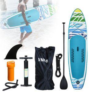 Wolketon Surfbretter 305cm Surfboard SUP Aufblasbares Stand up Paddle Board Set Ideal fuer Einsteiger, mit Pumpe, 3-TLG verstellbares Paddle, Tragetasche, Sicherungsleine, Reparaturset