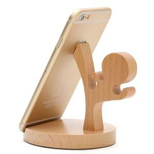 Universal Handyhalter aus Echtholz für Smartphone & Tablet Kongfu