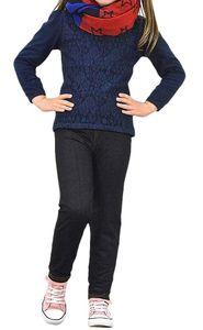 GKA Kinder Jeans Leggings Gr. 146/152 schwarz Jeggings Hose weich Mädchen