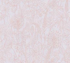 A.S. Création Blumentapete Attractive florale Tapete Vliestapete rosa weiß 10,05 m x 0,53 m