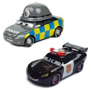 CUIFULI 2PCS Disney Pixar Cars  Metall 1:55 Diecast Spielzeug Kinder Geschenk lose Spielfahrzeuge, Police Sheriff NO.95 Mcqueen
