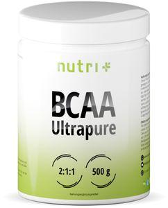 BCAA POWDER Neutral - Aminosäuren Mix hochdosiert - Vegan - BCAAs Instant Pulver - Branched-Chain Amino Acids - Aminosäure Nahrungsergänzung 500g - Aminosäurepulver