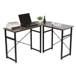 Computerschreibtisch Schreibtisch -Eckschreibtischvintage Eiche 123-103*40*72.5cm