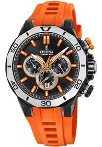 Festina Chronograph F20450-2 Chrono Bike 2019 Silikonband schwarz-orange