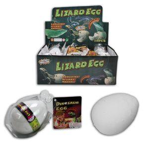 1x wachsender Dino im Ei, Dinosaurier, Dinoei, verschiedene Varianten Echse Krokodil Schildkröte
