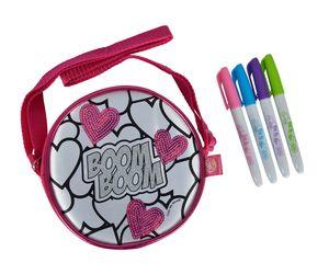 Simba Color Me Mine Sequin Donut 15 cm, Kindertasche selbst bemalen