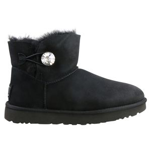 UGG Mini Bailey Button Bling Boot Stiefel Damen Schwarz (1016554 BLK) Größe: 40 EU
