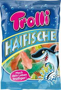 Trolli Haifische Fruchtgummi & Schaumzucker 200 g