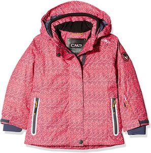 Cmp Girl Jacket Snaps Hood Coral / Asphalt 14 Years