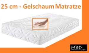 Gelschaum Matratze  ✔ High Tech - 7 Zonen - Höhe 25 cm - Größe:  120 x 200 cm, ➽ Orthopädische ➽  Gelschaummatratze XXL