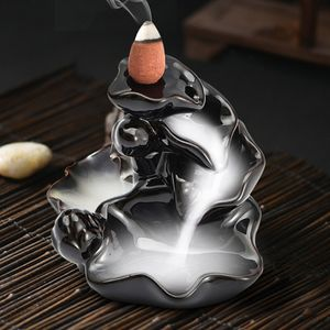 Keramik Weihrauch Brenner Lotos Räucherstäbchenhalter Rückfluss Halter