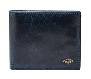 FOSSIL Ryan Large Coin Pocket Bifold Navy